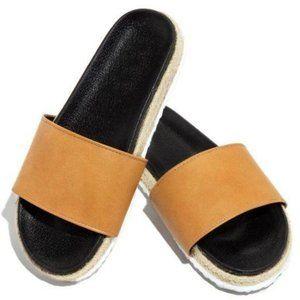 !! NEW !! Espadrille Slides in Tan